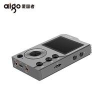 Aigo Эрос K Bluetooth 4,0 без потерь Hifi MP3 плеер мини hibilink декодирования DSD Беспроводной ЦАП AXU аудио плеера US