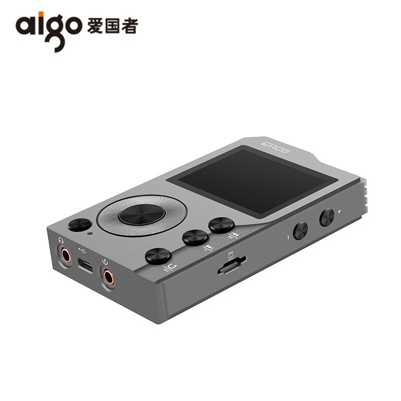 Aigo EROS K bluetooth 4.0 Sans Perte Hifi MP3 Lecteur Mini HiBilink Décodage DSD Sans Fil DAC AXU Audio Lecteur de Musique NOUS