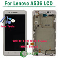 White LCD Display Touch Digitizer Screen Assembly with frame Complete For Lenovo A536 +Tools Free Shipping