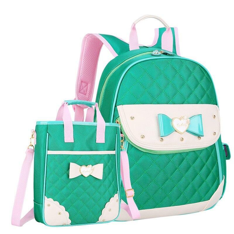 ФОТО 2016 New Waterproof School Backpack Children Bow School Bag Girl High-quality Nylon Bags Free Shipping