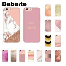 Babaite Gold Pink rose Glitter Newly Arrived Phone Accessories Case for iPhone 8 7 6 6S Plus X XS MAX 5 5S SE XR 10 Cover