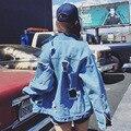 Джинсовые Куртки Женщин Весной и Зимой Мода Основные Куртка Бомбардировщик Куртка Женщин Основные Пальто chaquetas mujer
