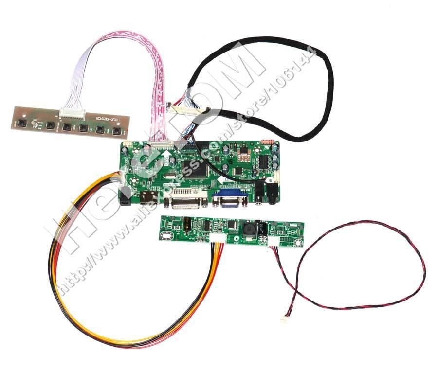 M.NT68676.2A HDMI+DVI+VGA+AUDIO LED Controller Board 12V 4A AC Power Adapter