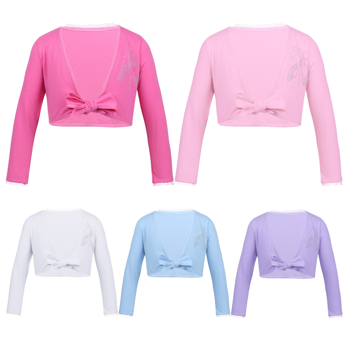 Cotton ballet wrap crossover tops various colours and sizes