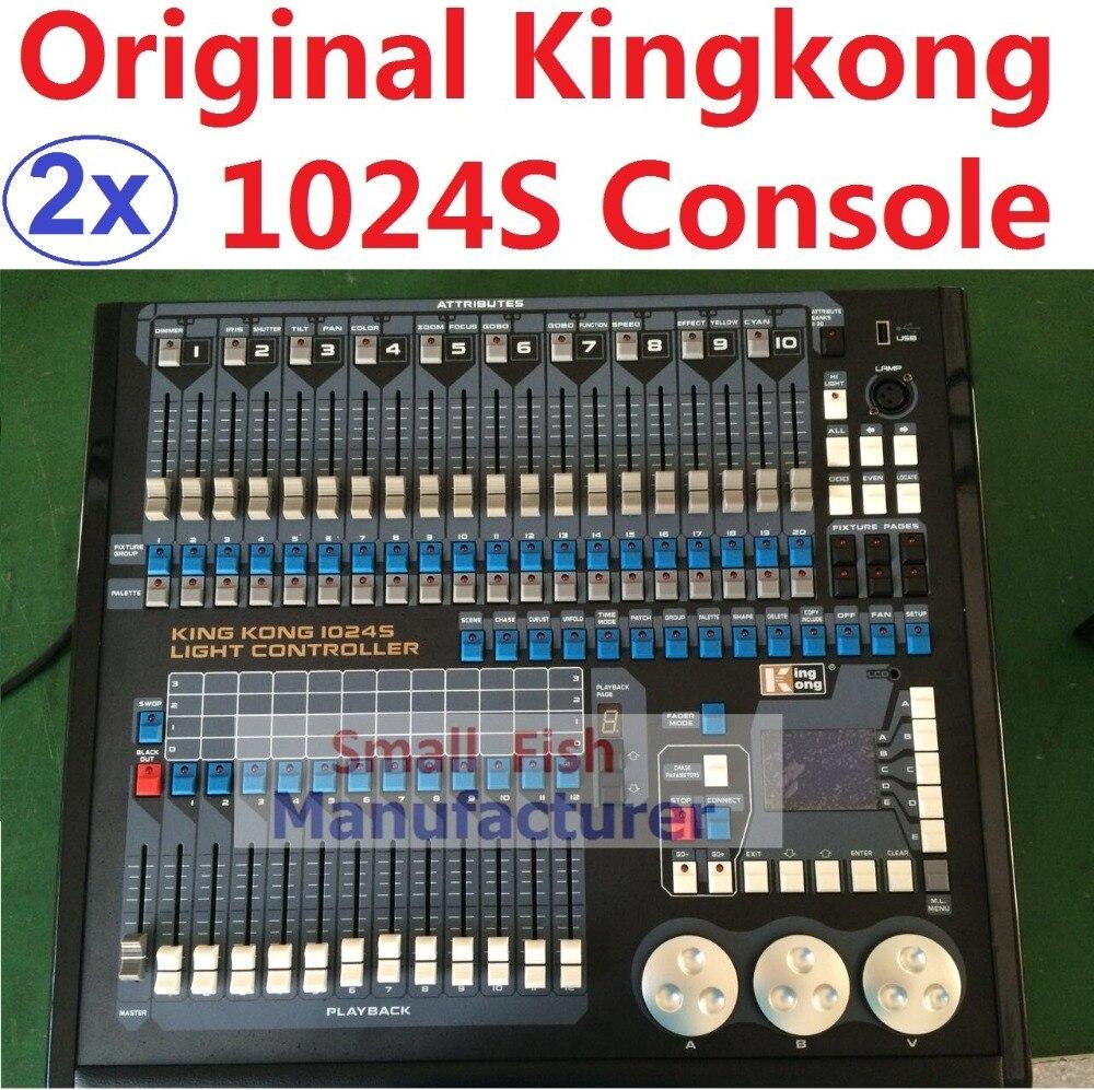 2xLot Original Kingkong 1024S Light Controller 1024 DMX512 Control Professional MA Hog Avolite DJ Disco DMX Stage Lights Console