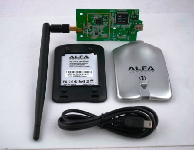 ALFA AWUS036H USB WLAN Adapter Realtek8187L Chipset 54Mbps Wireless N 80211N G High Power WiFi With 6dbi