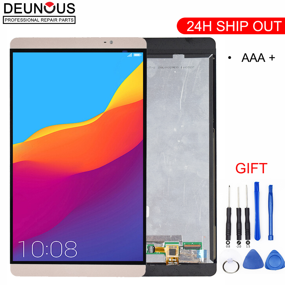New White/Gold 8.0 Inch LCD DIsplay + Touch Screen Panel Digitizer Assembly For Huawei Mediapad M2 M2-801L M2-802L M2-803L