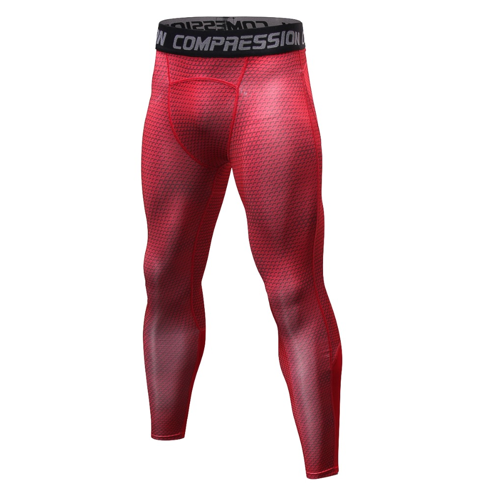 Red/blue/grey/white/black/bodybuilding Men's Leggings, Large Size S-xxxl Elastic Long Pants.