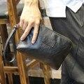 Nova Moda Clássico Preto Brilhante Bolsa de Moedas de Zero Carteira Unisex Carteira Billfold Multi-Função Purse Clutch Bag Frete Grátis