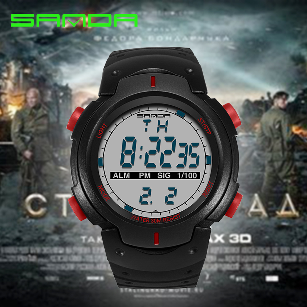 2017 Sanda Brand Watches Men Military LED Digital Watch Man Dive 30M Fashion Outdoor Sport Wristwatches Clock Relogio Masculino weide popular brand new fashion digital led watch men waterproof sport watches man white dial stainless steel relogio masculino
