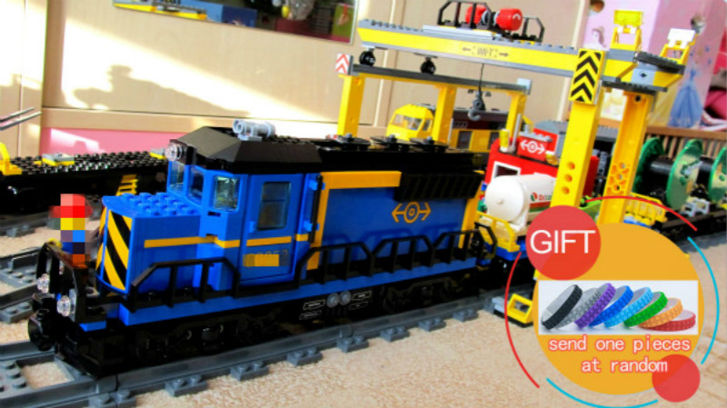 02008 959PCS City The Cargo Train Set Building Blocks Bricks Educational Toys for children Compatible with 60052 lepin new lepin 16009 1151pcs queen anne s revenge pirates of the caribbean building blocks set compatible legoed with 4195 children