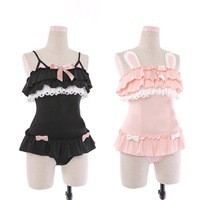 Hot sale One Piece Cute Sexy cosplay Costume Women Cute black cat and powder rabbit costumes Summer