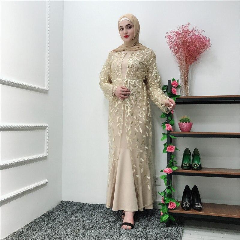 Women Ramadan Abaya Dubai Turkish Kaftan Dress Muslim Women's Abaya