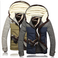 Fashion Brand Clothing Parka Slim Fitness Cotton-padded Jacket Men Hooded Winter Thicken Outwear Parkas Coats Male Clothes Tops