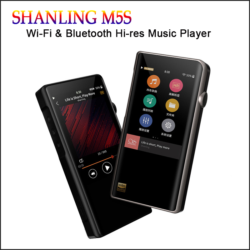 SHANLING M5s Hi-res Mp3 Wifi Player Mp3 Player Bluetooth Mp3 Lossless Hifi reproductor de música DAC Flac, WAV portátil reproductor Mp 3