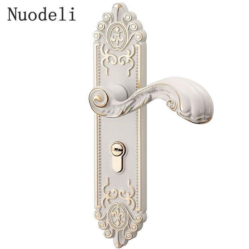 Nuodeli Винтаж Спальня врезные ручки дверные замки безопасности запись Разделение Silent замок Core двери мебель Крытый ручку двери замок