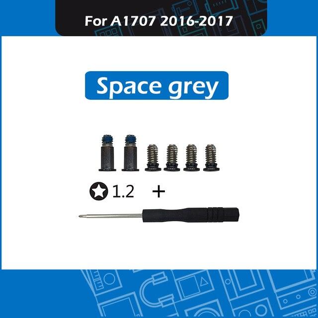 """Neue Raum grau A1707 Bodenwanne Schrauben set mit Schraubendreher für Macbook Pro Retina 15 """"A1707 Untere Abdeckung Schrauben 2016 2017 jahr"""
