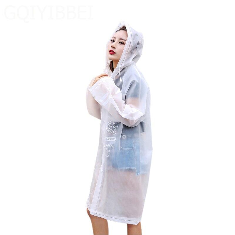 GQIYIBBEI Impermeable Raincoat Women Men Waterproof Trench Coat Poncho Transparent Rain Coat Women Rainwear Rain Gear Poncho in Raincoats from Home Garden