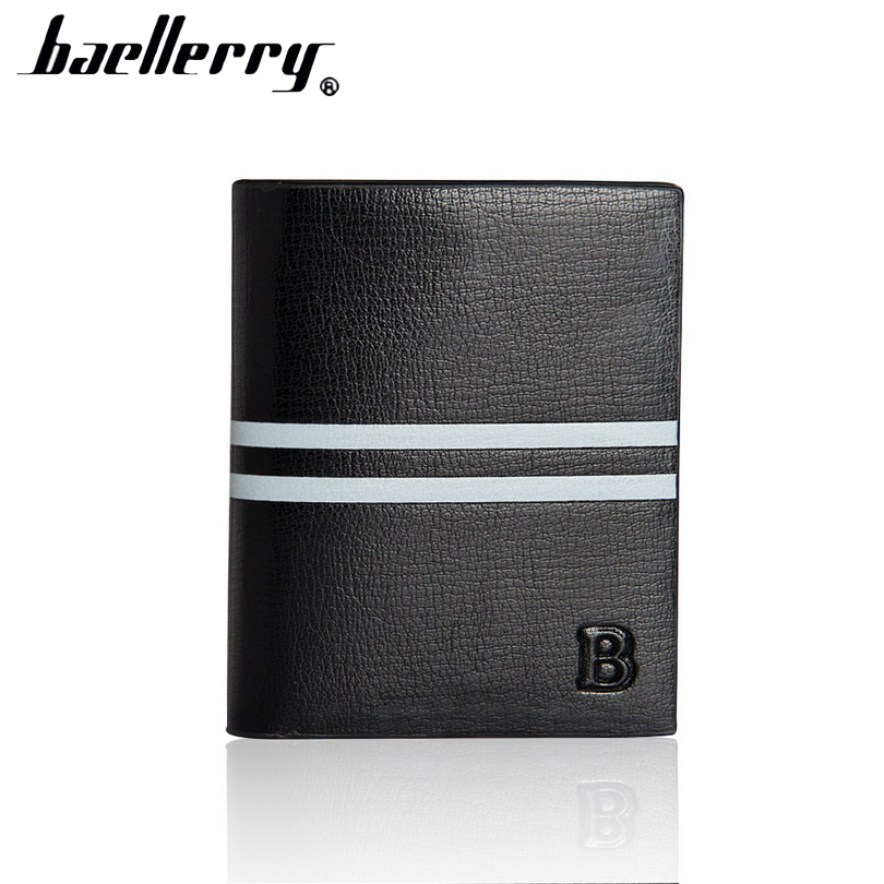 baellerry short wallet men Vertical multi-card holder purse fashion famous Brand Wallets for male Limit discounts D2083-8 baellerry small mens wallets vintage dull polish short dollar price male cards purse mini leather men wallet carteira masculina