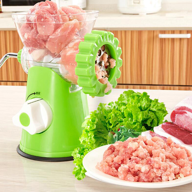 New Household Multifunction Manual Meat Grinder High Quality Stainless Steel Blade Home Cooking Machine Mincer Sausage Machine no 5 small household manual meat grinder aluminium alloy body with stainless steel blade