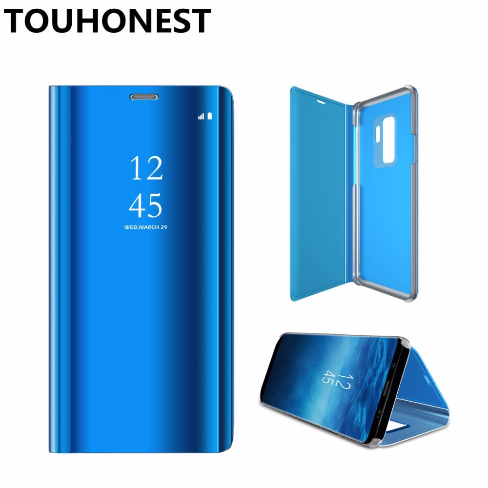 comprare popolare 50358 8700c P20 lite Mirror Clear View flip Cover For Huawei P30 P20 Pro Mate ...