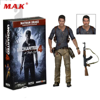 18cm Cheap Toys for Children Original Uncharted 4 ultimate Nathan Drake Collection Figure Toy