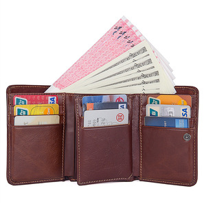 Image 4 - CICICUFF RFID Blocking Genuine Leather Men Wallet Brand Male Wallets Anti scanning Real Leather Short Purse with Coin Pocket