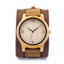 2016 Vente Chaude Bambou À La Main Montre Hommes Avec Le Japon MIYOTO Mouvement Quartz Horloge Meilleur Cadeau