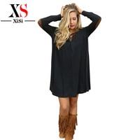 Europejski Amerykański Dorywczo Swetry Dzianiny Kobiety Sukienka Red Party Suknie Kobiety Zimowe Sukienki Sexy 2015 Długim Rękawem Czarny Plus Size