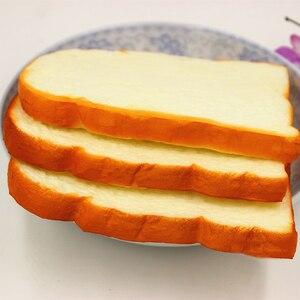 Image 5 - 1Pc Hot 14Cm Jumbo Zachte Geur Gesneden Brood Toast Kids Speelgoed Hand Kussen Gift Decoratie Ambachten Miniatuur Kids keuken Speelgoed