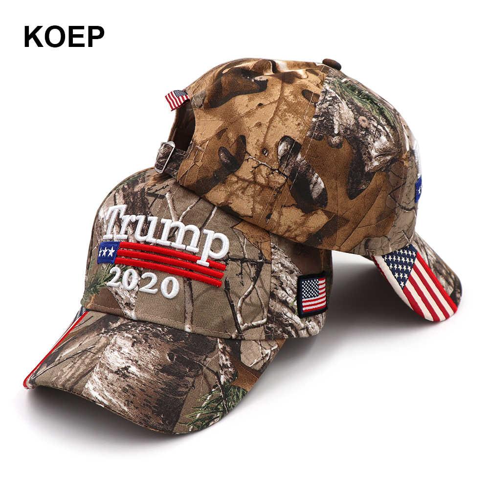 4acbeb99b Donald Trump 2020 Cap Camouflage USA Flag Baseball Caps Make America Great  Again Snapback President Hat Embroidery Wholesale