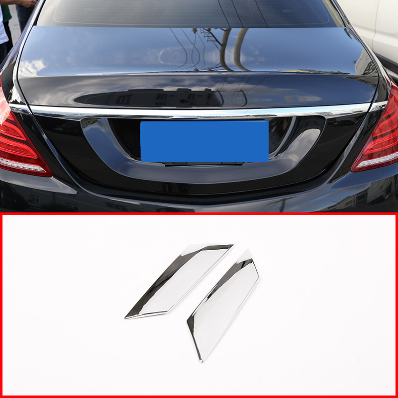 ABS Chrome Car Tail Strips Sequins Trim For <font><b>Mercedes</b></font> Benz <font><b>S</b></font> <font><b>Class</b></font> <font><b>W222</b></font> 2014-2018 Car Accessories 2pcs/set image