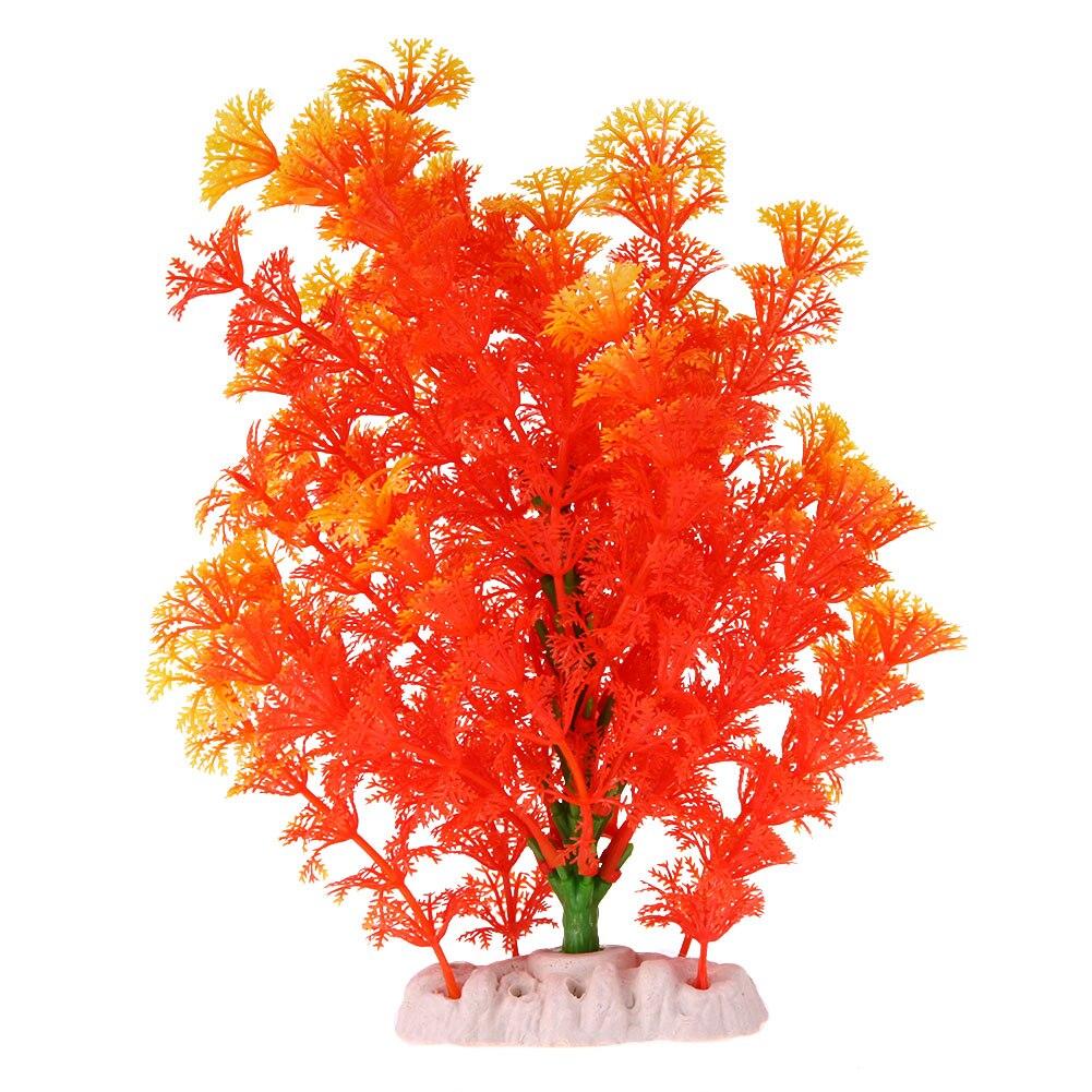 Aquarium Artifical Plant Plastic Water Grass Tree Ornament DIY Orange Mini Fish Tank Aquarium Decoration Accessories Gold Fish