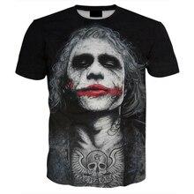 Harajuku 2018 New Design Mens 3D Tshirt Joker Print Tees Tops Fashion Casual Hip Hop Funny T-shirts Streetwear Plus Size 5XL