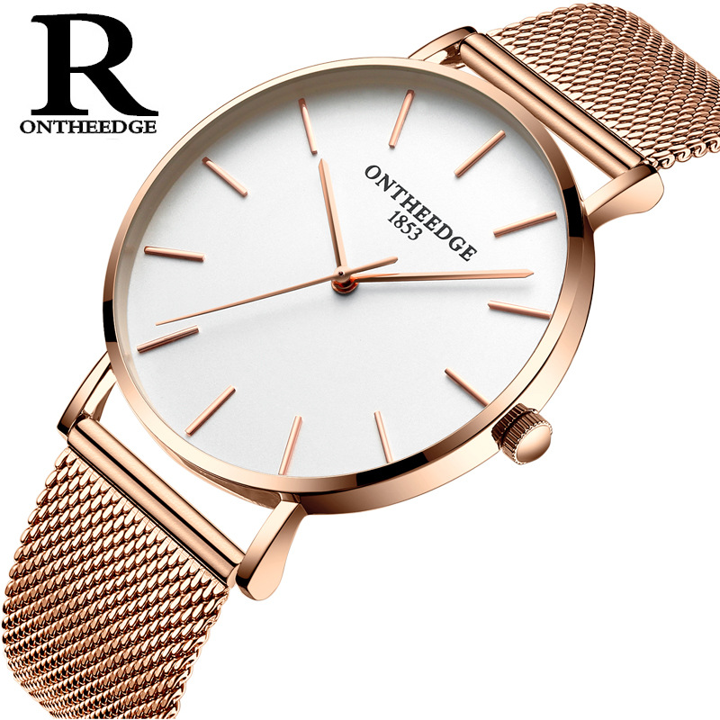 Fashion Ultra Thin Gold Silver Watch Women Luxury Colorful Woman Watch 2019 Fine Stainless Steel Scrap Wrist Watches For Women