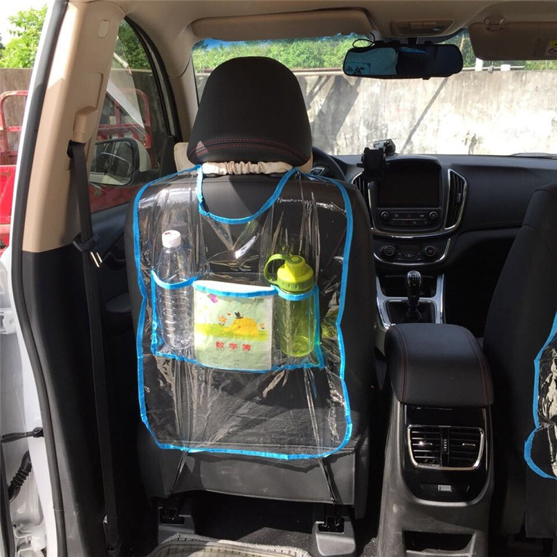 New arrival Car Auto Seat Back Protector Cover For Children Kick Mat Storage Bag Nets