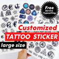 Customized Personalized Waterproof Temporary Tattoo Sticker DIY Fake Tatoo, Make Your Own design Tattoo For Logo/wedding