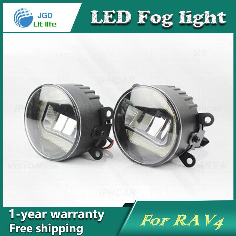 Super White LED Daytime Running Lights For Toyota RAV4 Drl Light Bar Parking Car Fog Lights