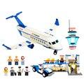 Международный Аэропорт Аэробус Самолет Модель Рисунках Строительные Блоки Устанавливает BricksToys Совместимость С основными бренд блоки