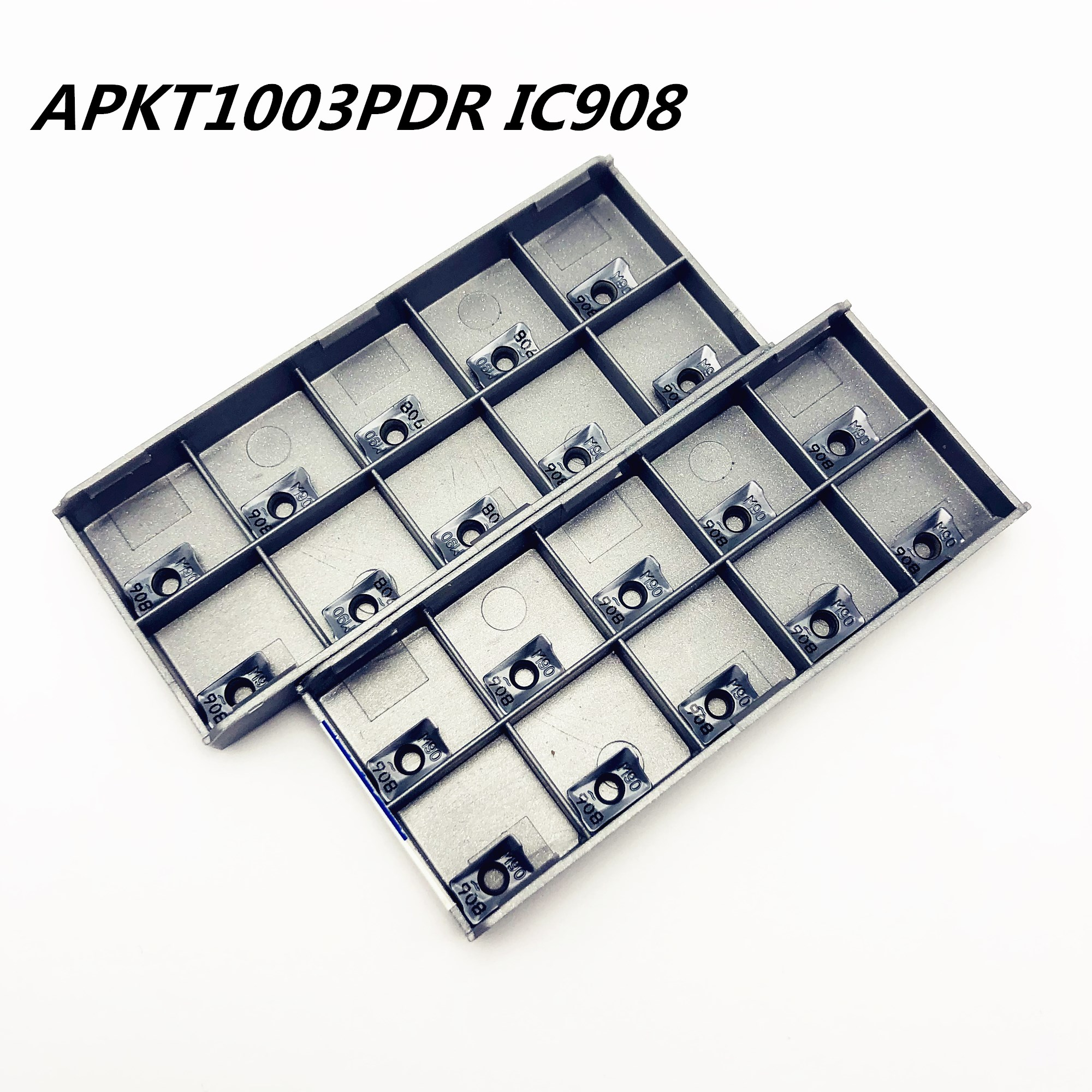 100PCS APKT 1003PDR IC908 High Precision Internal Round Metal Turning Tool Milling Tool APKT 1003 Carbide