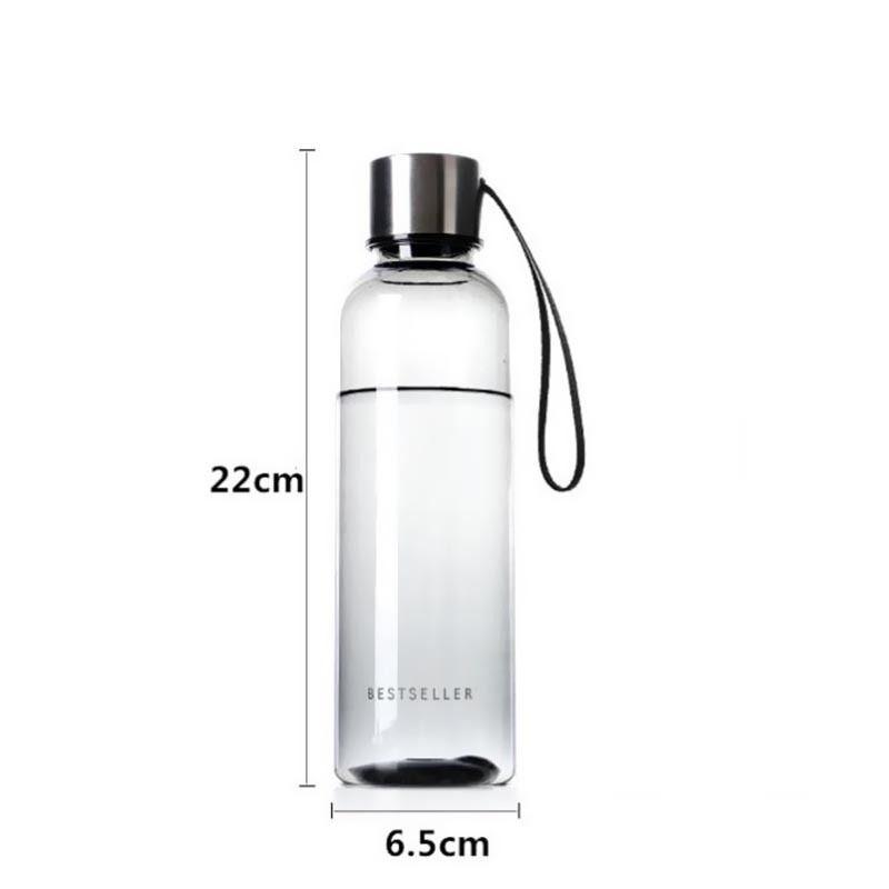 HTB1SRPfX.GF3KVjSZFvq6z nXXap 500ml Hot Brief Water Bottle Vogue Woman Men Water Bottle Leak Proof BPA Free Sports Drinking Water Bottle with Carry Strap