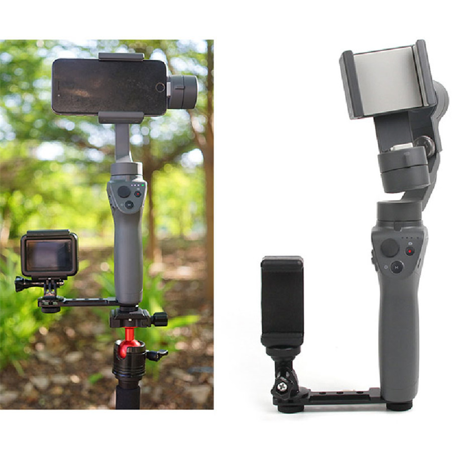 OSMO Mobile 2 / 3 Phone Holder Monitor Extension Bracket Support Mount Cilp for DJI OSMO Mobile 2/3/Zhiyun Smooth Q 4/3 Gimbal