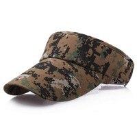Casquettes de visière de Camouflage numérique pour hommes, vert armée, escalade, Camping, été, chapeaux