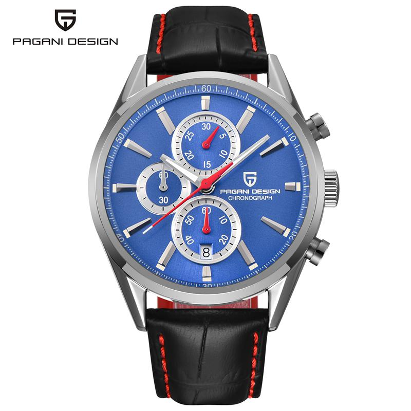 PAGANI DESIGN Watches Men Chronograph Sport Quartz Watch Luxury Brand Military Wristwatches Auto Date relogio masculino PD-2765 reef tiger brand men s luxury swiss sport watches silicone quartz super grand chronograph super bright watch relogio masculino