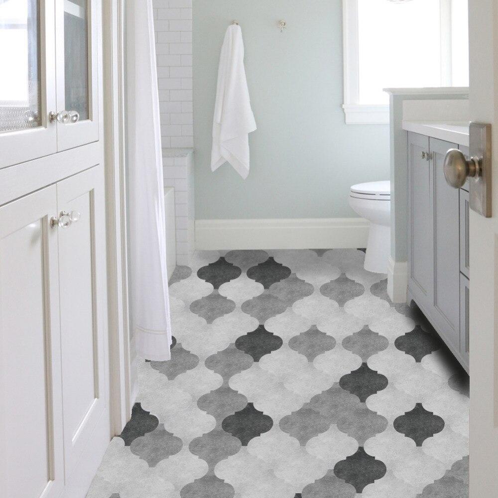 10pcs set Black Grey Lantern Floor Sticks PVC Adhesive Wallpaper Waterproof Art Decal for Livingroom Bedroom Home Decoration in Wall Stickers from Home Garden