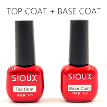 SIOUX Foundation UV-gel Polish Top Langdurige Nail Primer Nail Art Semi-permanente 6ml UV Top Coat Base Coat Gelvernis