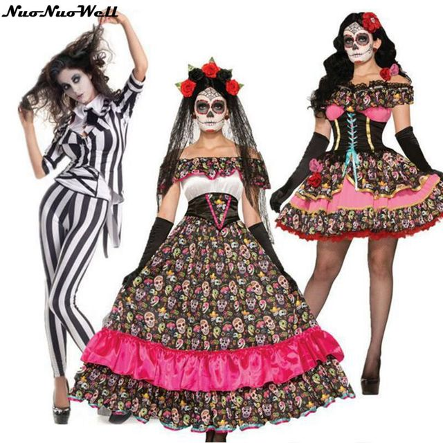 e0b2de22c3dba High Quality Halloween Cosplay Costumes Sexy Women Horror Scary Costume  Ghost Bride Doll Clothes Masquerade Film Role Playing