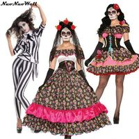 High Quality Halloween Cosplay Costumes Sexy Women Horror Scary Costume Ghost Bride Doll Clothes Masquerade Film Role Playing