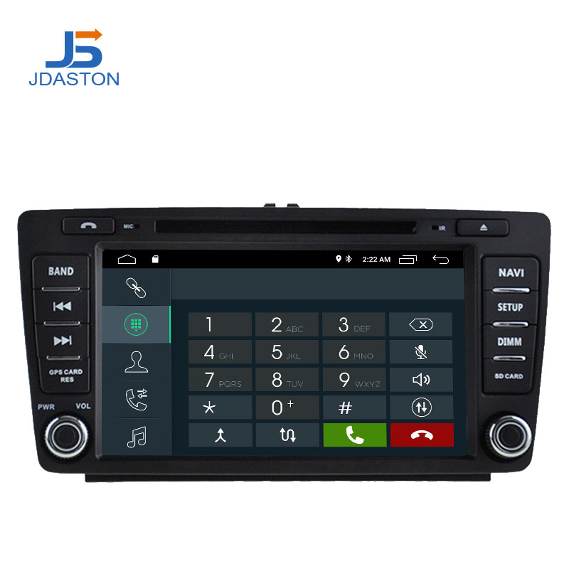 JDASTON Android 9.1 Car DVD Player For SKODA Octavia 2012 2013 Multimedia GPS Navigation 2 Din Car Radio IPS Stereo WIFI Audio