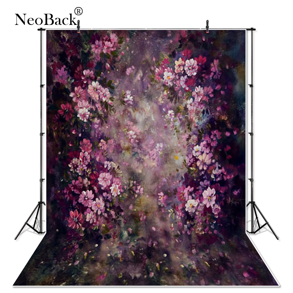 NeoBack thin vinyl Newborn Baby Spring Floral Photography Backdrop fantasy floral Customs Photo Studio backgrounds Prop P3355 10x10ft christmas theme vinyl custom photography backdrop prop photo studio backgrounds nt45
